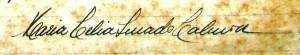 Assinatura extraída de oficio datado de 1 jun. 1945, endereçado ao Prof. Mendonça Filho, Diretor da Escola de Belas Artes da Bahia. Arquivo da Escola de Belas Artes da UFBA